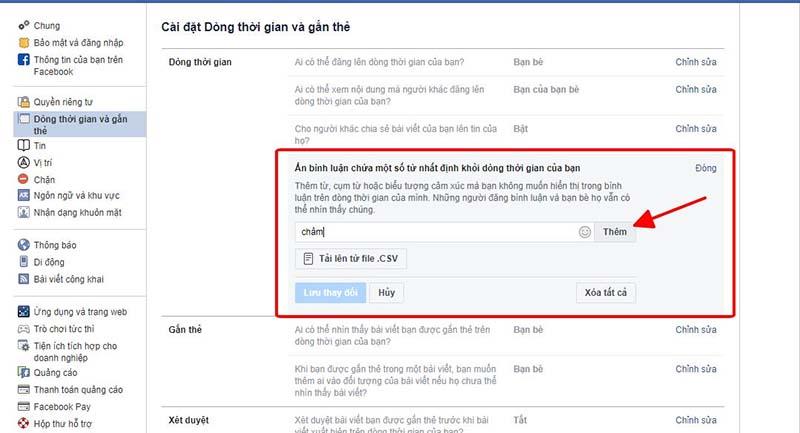 Cách khóa bình luận trên facebook